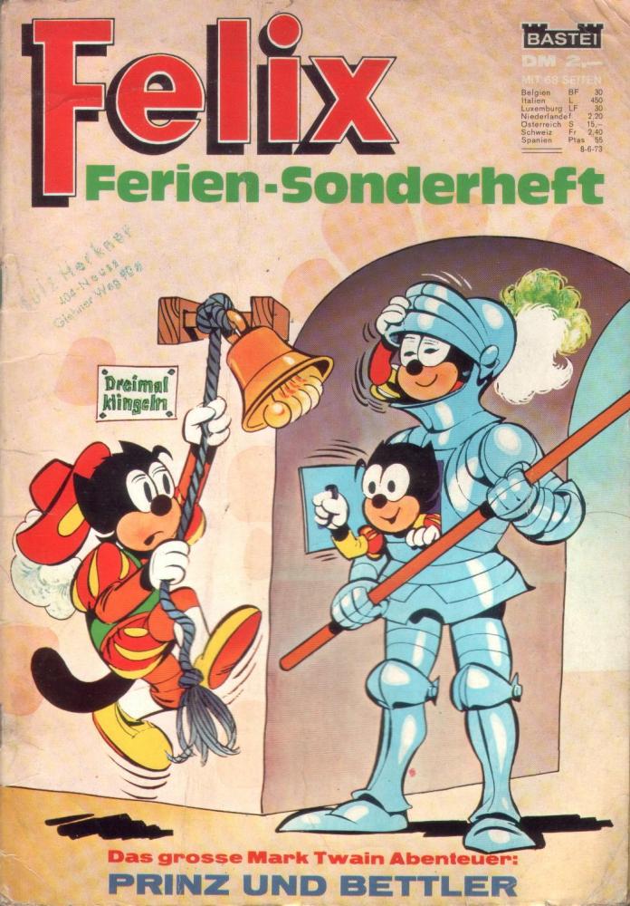 Felix Ferien-Sonderheft 1973 (Bastei)