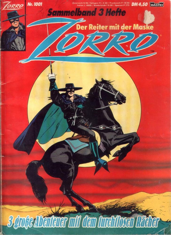 Zorro Sammelband Nr. 1001 (Bastei) Marvel
