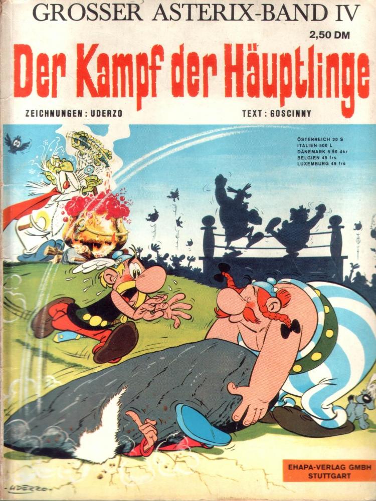 Asterix Band IV (Der Kampf der Häuptlinge) 1. Auflage Ehapa