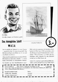 """Werbung für Poster """"Das königliche Schiff Wasa"""""""