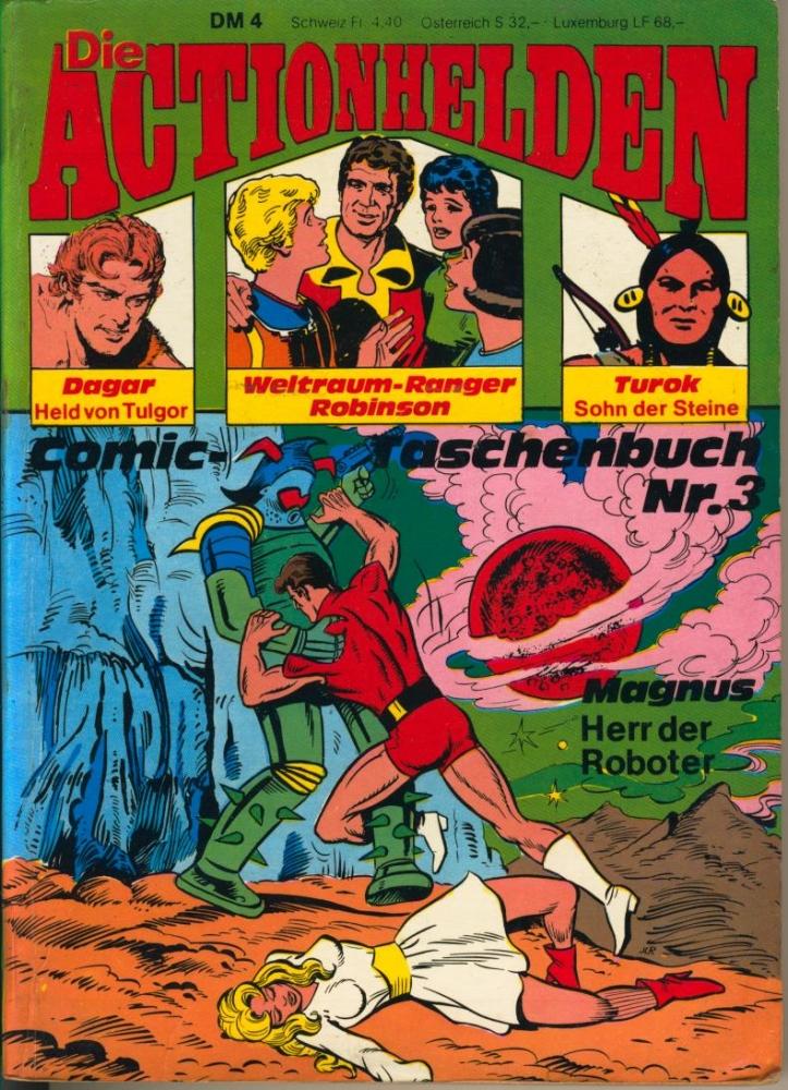 Die Actionhelden Comic-Taschenbuch Nr. 3 Condor Verlag Magnus Turok Dagar Robinson