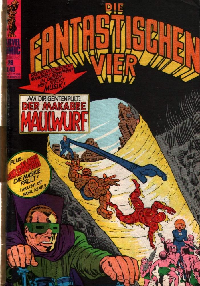 Die Fantastischen Vier 28 Comicheft Klaus Recht GmbH 1975 Marvel  aus SB