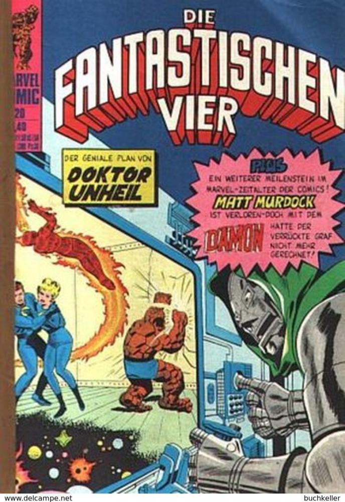 Die Fantastischen Vier 20 Comicheft Klaus Recht GmbH 1975 Marvel  aus SB